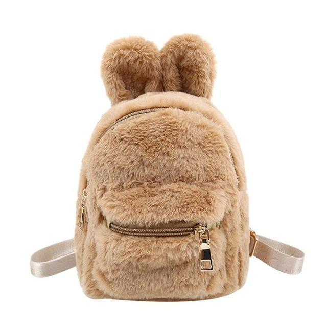 Kawaii Rabbit Ears Mini Plush Backpack [5 Colors]