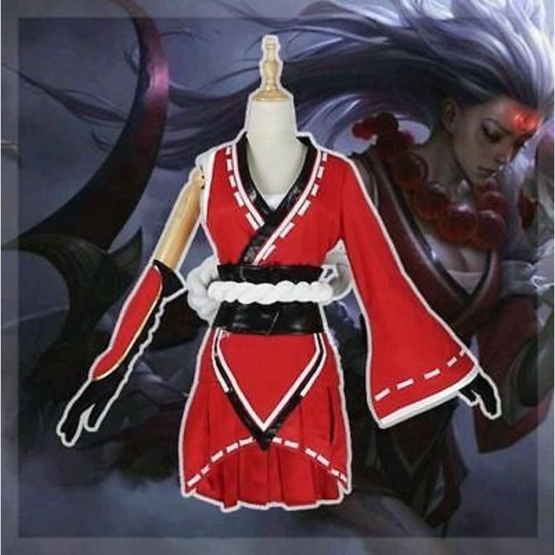 League of Legends Blood Moon Diana Cosplay Costume Set