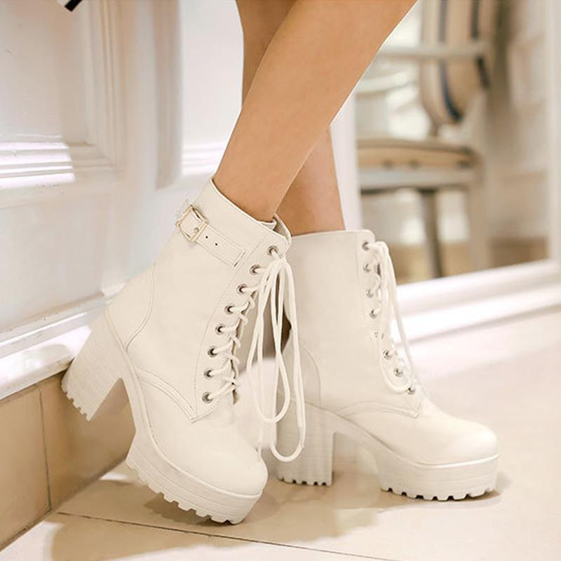 Cosplay Martin Boots Lace-up High Heel