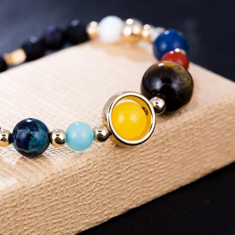 Natural Stone Solar System Bead Bracelet [2 Styles]