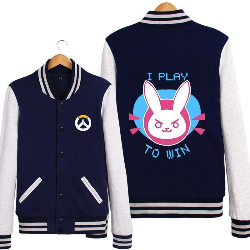 Overwatch D.Va Navy Varsity Jacket