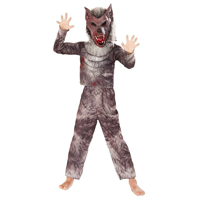 Halloween Costume For Child Kids Wolf Costume Boys Werewolf Costume Animal Cosplay Carnival Party