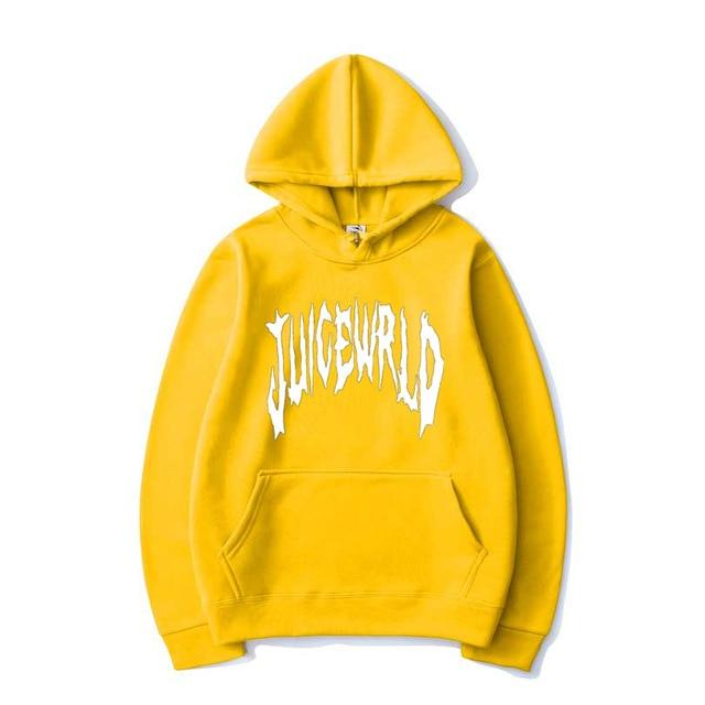 Juice Wrld Letter Printed Hoodies Harajuku Hip Hop Rapper Hooded Sweatshirt Pullover Men/Women Fashion Singer Hoodie