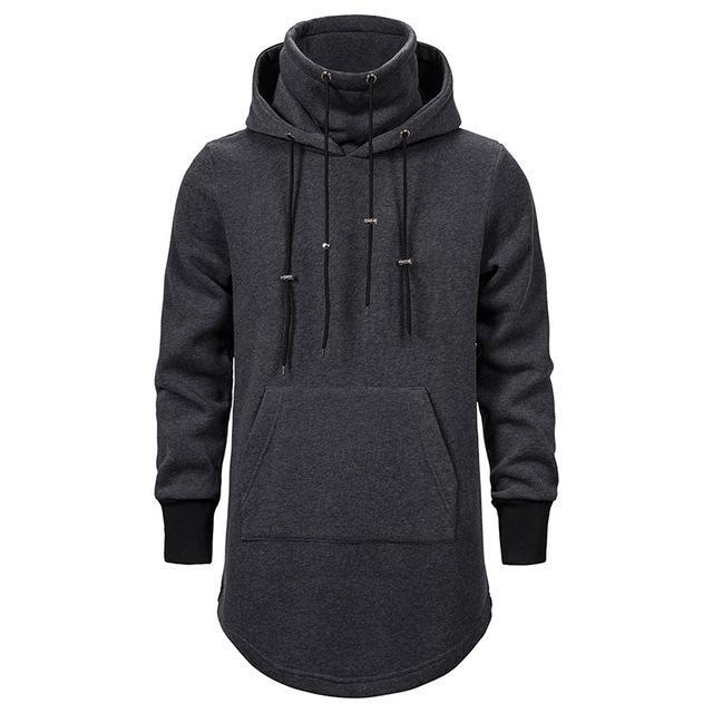 Assassin Creed Men Diablo Middle Long Hat Loose Coat Double Drawstring Pocket Hoodie Men Sweatshirts Men Off White ??????????