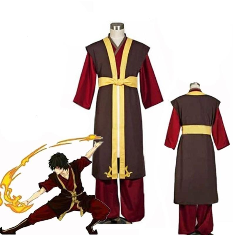 Avatar The Last Airbender Prince Zuko Cosplay Costumes Uniform Anime Zuko Cosplay boots Shoes for Halloween Party custom-made