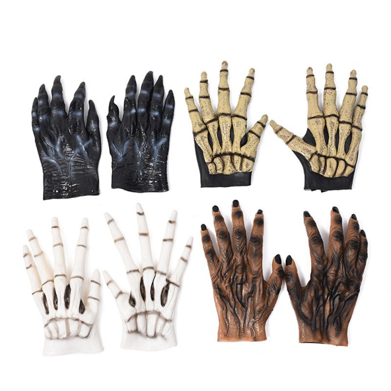 Halloween Wolf Claw Gloves Hands Toys Halloween Cosplay Costume Party Kid Trick Prop Toy Cosplay Werewolf Hands Gloves