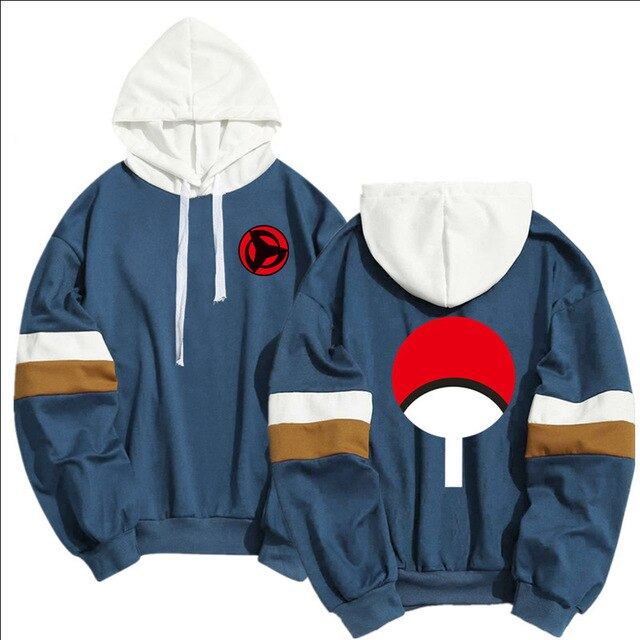 Anime Naruto Cosplay Costumes Men Hoodies Sweatshirts Uzumaki Akatsuki Haruno Sakura Fashion Splicing Women Men Clothing