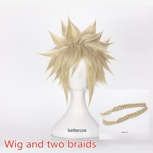 Final Fantasy Vii 7 Cloud Strife Cosplay Wigs Short Linen Blonde Heat Resistant Synthetic Hair Wig