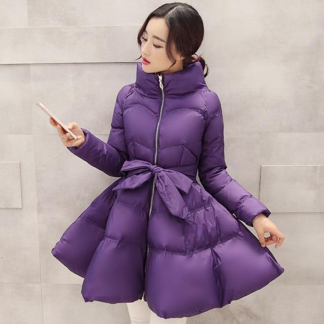 Puffer Coat Skirt Winter Pastel Parka