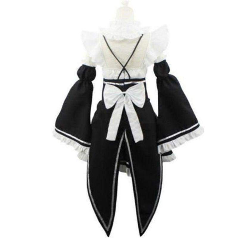 Ram/Rem Cosplay Maid Dress Costume Set Re:Zero Life In a Different World From Zero