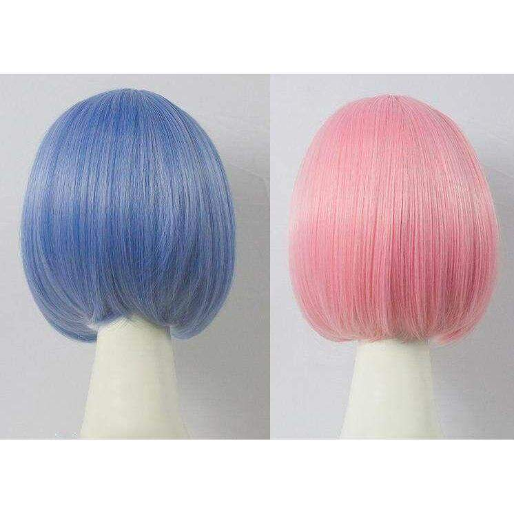 Rem / Ram Cosplay Wig Re:Zero Life In a Different World From Zero Anime Costume
