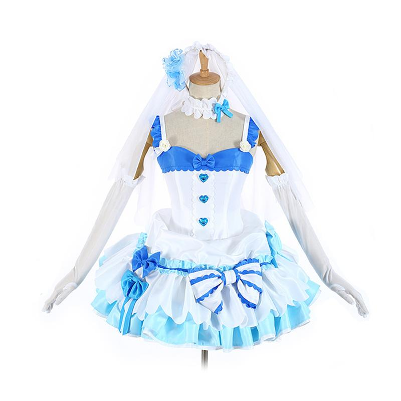 Anime Re:Zero Starting Life in Another World Rem and Ram Wedding Dress Cosplay Costume