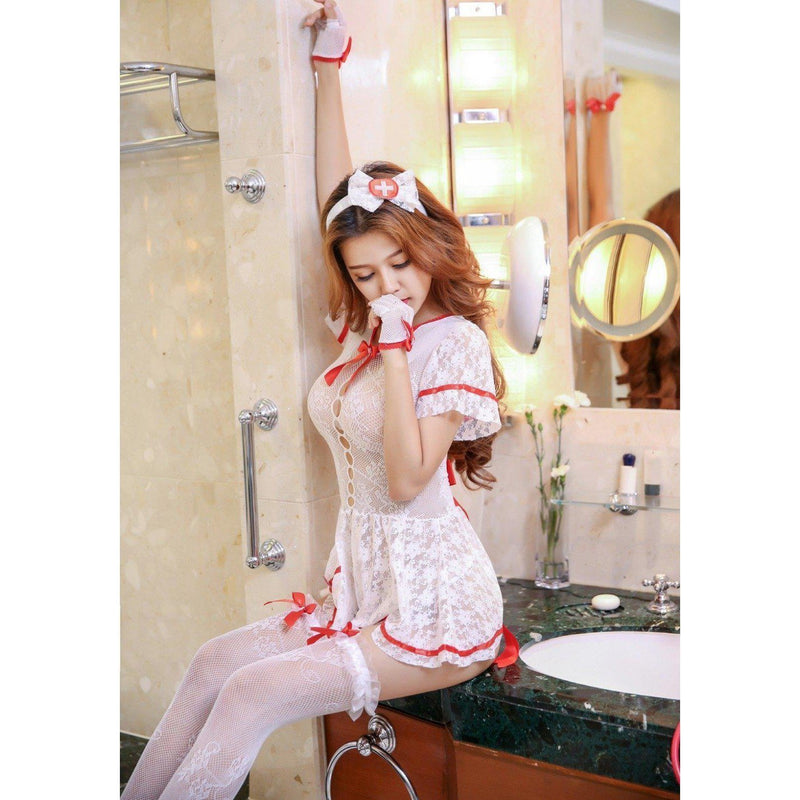 Sexy Nurse See Through Cosplay Costume
