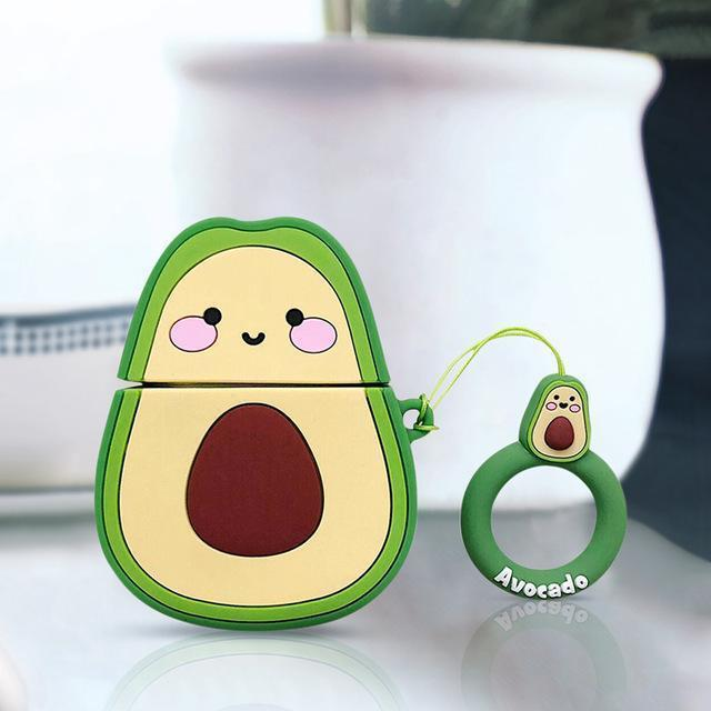 Strawberry Avocado Peach Airpods Case Kawaii Earphone Accessories