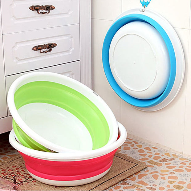 1PCS Folding Bucket Portable Collapsible Basins