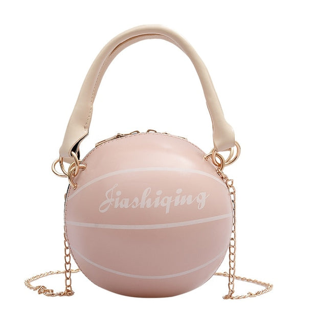 Basketball  Shaped PU Leather Shoulder Bag