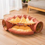Foldable Cat Tunnel Bed to Play and Keep Warm and Comfortable