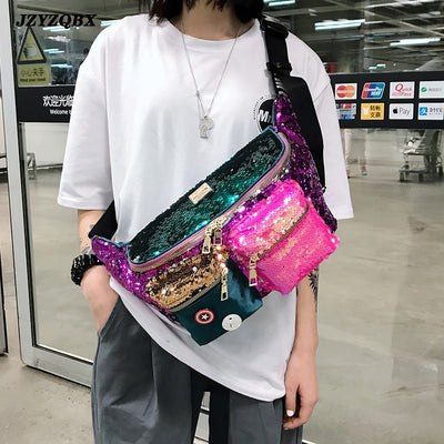 Multiple Pockets Hip Bag