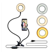 Universal Selfie Ring Light with Flexible Mobile Phone Holder