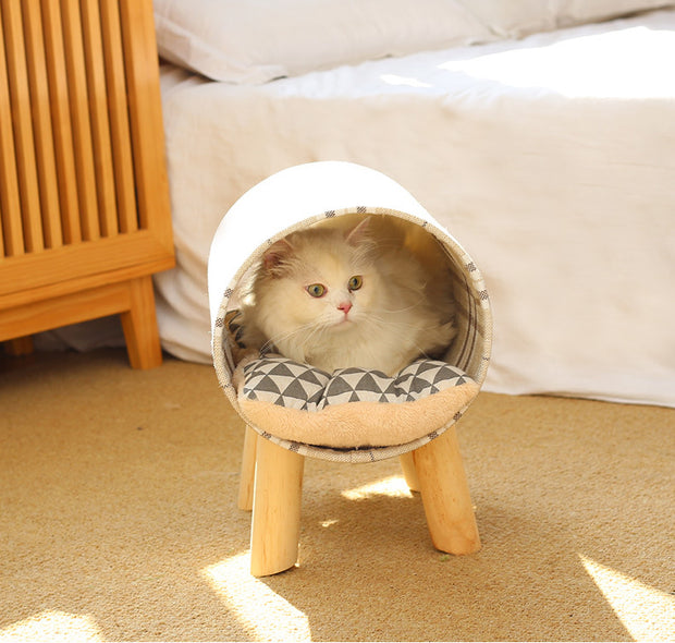 Barrel Sleeping House Bed For Cats