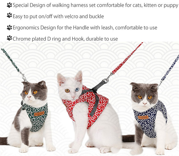 Cat Vest Harness Leash Set