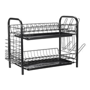 2/3 Layers Kitchen Dish Drainer Metal Rack Utensils Storage Organizer Rustproof