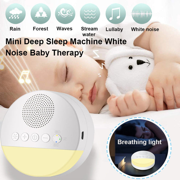 Portable USB Rechargeable Sleep Sound Soft Light Baby Adult Sleeping