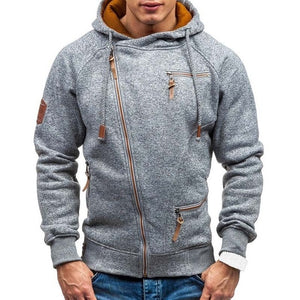 Warm Layered Hoodie With zippers