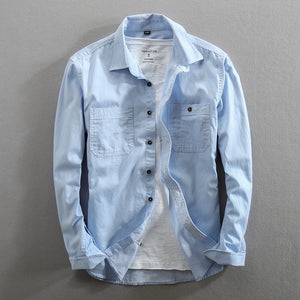 Long Sleeve Jean Shirt