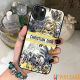 Christian Dior Style Artsy Shockproof Protective Designer iPhone Case For iPhone SE 11 Pro Max X XS Max XR 7 8 Plus