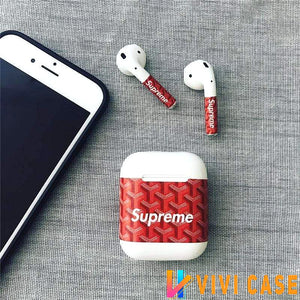 AirPods Case Supreme x Goyard Style Classic AirPods Skin Sticker Decal AirPods 1 2