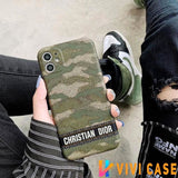 Christian Dior Style Camouflage Shockproof Protective Designer iPhone Case For SE 11 Pro Max X XS XR 7 8 Plus - iPhoneSE(2ndGen)