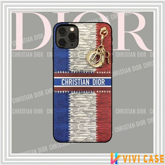 Christian Dior Style Waterproof Shockproof Protective Designer iPhone Case For SE 11 Pro Max X XS XR 7 8 Plus - Keychain / (2nd Gen)