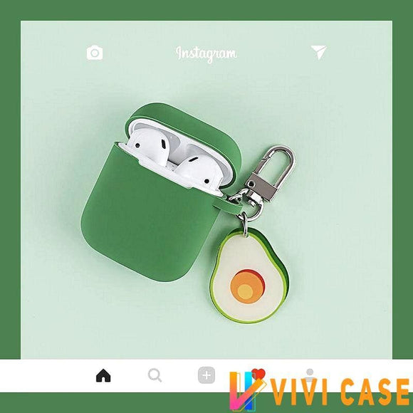 Cute Avocado Silicone Protective Shockproof Case For Apple Airpods 1 & 2 - AirPods