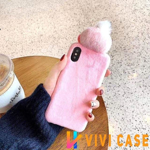 iPhone Case Cute Pink Yellow Duck Plush Toy Winter Warm Designer iPhone Case