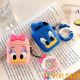 Disney Style Donald Daisy Duck Silicone Protective Shockproof Case For Apple Airpods 1 & 2 - AirPods