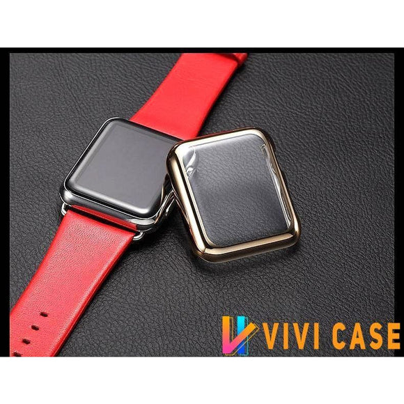 Electroplating Transparent Clear Compatible With Apple Watch Case 38mm 40mm 42mm 44mm For iWatch Series 4/3/2/1 - Bands