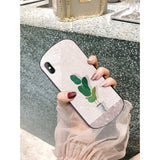 Floral Round Corner Tempered Glass Shockproof Protective Designer iPhone Case For SE 11 Pro Max X XS XR 7 8 Plus - White / (2nd Gen)