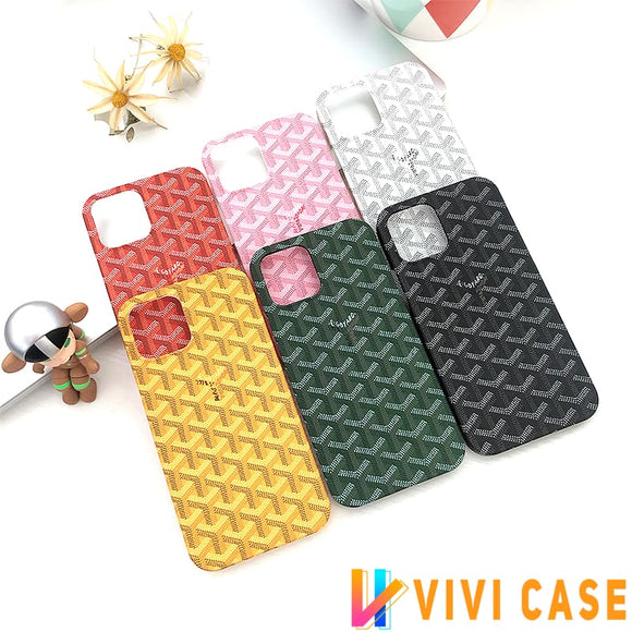 Goyard Style tpu Protective Designer Iphone Case For 12 Pro Max Mini