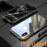 Hybrid Metal + Anti-Scratch Gorilla Glass HD Transparent Ultra Slim Shockproof Heavy Duty case for iPhone SE 11 PRO MAX Xs Max Xr X - Case