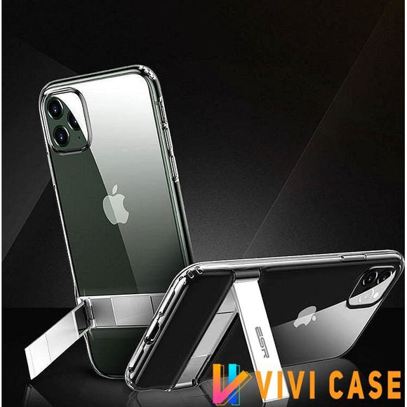 Kickstand Transparent Protective Designer iPhone Case For SE 11 Pro Max X XS XR 7 8 Plus