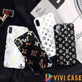 iPhone 11 Louis Vuitton Style Monogram Electroplating Glossy TPU Silicone Designer iPhone Case For iPhone 11 Pro Max X XS XS Max XR 7 8 Plus