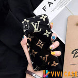 iPhone 11 BlackBigLogo / iPhone 7 Louis Vuitton Style Monogram Electroplating Glossy TPU Silicone Designer iPhone Case For iPhone 11 Pro Max X XS XS Max XR 7 8 Plus