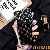 iPhone 11 BlackSmallLogo / iPhone 7 Louis Vuitton Style Monogram Electroplating Glossy TPU Silicone Designer iPhone Case For iPhone 11 Pro Max X XS XS Max XR 7 8 Plus