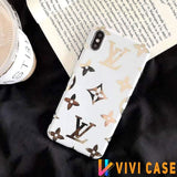 iPhone 11 WhiteBigLogo / iPhone 7 Louis Vuitton Style Monogram Electroplating Glossy TPU Silicone Designer iPhone Case For iPhone 11 Pro Max X XS XS Max XR 7 8 Plus