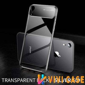 iPhone Case Luxury Camera Lens Tempered Glass Shockproof Ultra Thin iPhone Case