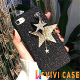 Luxury Glitter Shiny Diamond Star Soft Silicone Designer iPhone Case With Chain For X - 11 / iphone 7 8