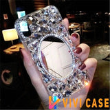 Luxury Rhinestone Mirror Diamond Bling Glitter Silicone Designer iPhone Case For X XS XR Max - 12 / iphone 7 8