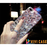 Luxury Rhinestone Mirror Diamond Bling Glitter Silicone Designer iPhone Case For X XS XR Max