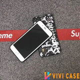 Luxury Supreme Style Red Camo Army Matte Silicone Designer iPhone Case For SE 11 PRO MAX X XS Max XR